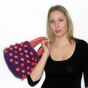 Lollydrops knitted bag